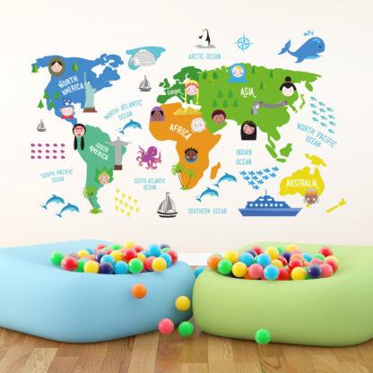 Verdenskort Til Børn