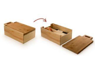 Vin kasse og oste bord