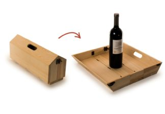 Vin kasse og Serving bakke