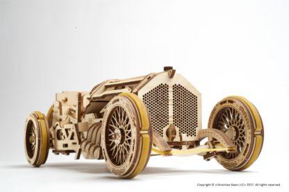 Mekanisk Byggesæt Træ U-9 Grand Prix Bil