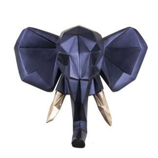 Vægdekoration Elefant – Sort Guld