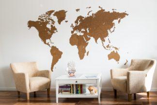 Gigant verdenskort til væggen - 280x170 Rå